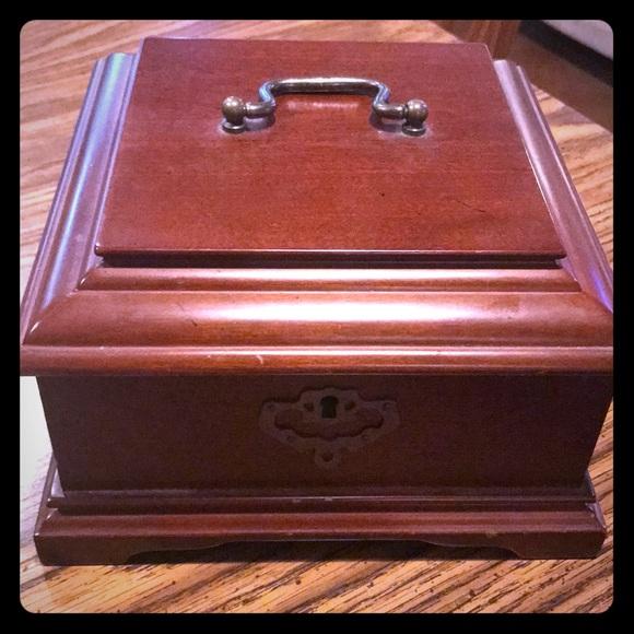 94ff63f15 bombay Storage & Organization | Cherry Wood Jewelry Box | Poshmark